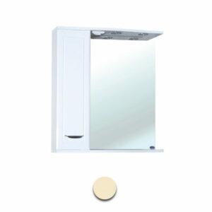 Зеркало-шкаф 'Мальта-60' бежевое левое ЗМ60БЖЛ 600х722х190