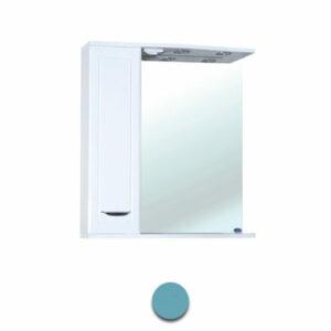 Зеркало-шкаф 'Мальта-60' голубое левое ЗМ60ГЛ 600х722х190