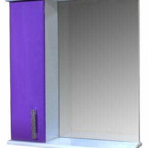 Зеркало-шкаф 'Марта-55' левый (Фиолетовый) 550*725*180
