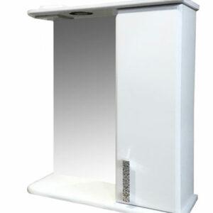 Зеркало-шкаф 'Марта-60' правый (белый) 600*725*180