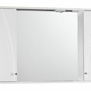 Зеркало-шкаф 'Сонет-С 105' два шкафчика (белый) 1050*700*150