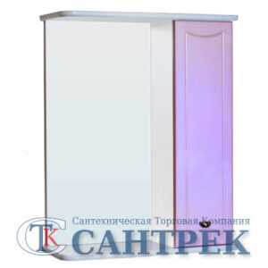 Зеркало-шкаф 'Стиль 55' правый (розовый) 570х732х230