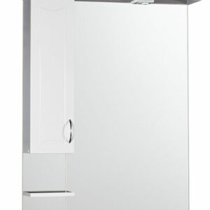 Зеркало-шкаф 'Стиль 80' левый (белый) 1 светильник 810х1082х200