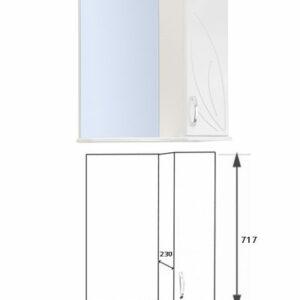 Зеркало-шкаф 'Весна' правый (белый) 570*717*230