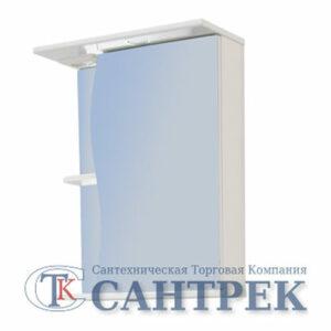 Зеркало-шкаф 'Волна 500 С' правый (с подсветкой) 500*700*234