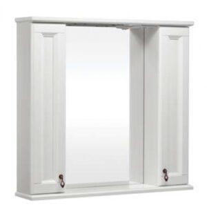 Зеркало ВАРНА 105 со шкафчиками, Слоновая кость/9001 (BAS) МБ00180