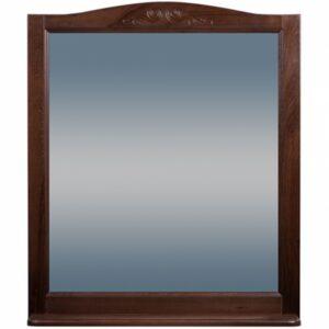 Зеркало ВАРНА 105 (в рамке с полочкой) Орех/Венге (BAS) МБ00059