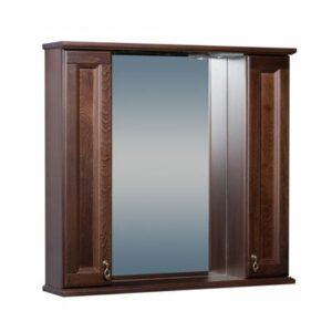 Зеркало ВАРНА 85 со шкафчиком Орех (BAS) Б00073