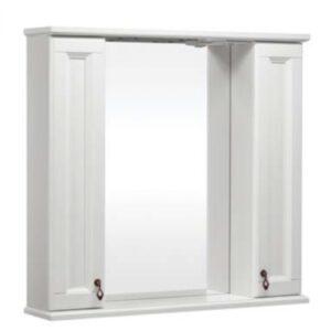 Зеркало ВАРНА 85 со шкафчиком Слоновая кость (BAS) МБ00198