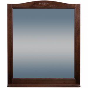 Зеркало ВАРНА 85 (в рамке с полочкой) Орех /Венге (BAS) МБ00057