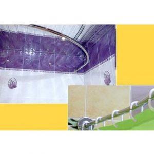Карниз д/ванной хром Дуга 90х90 см
