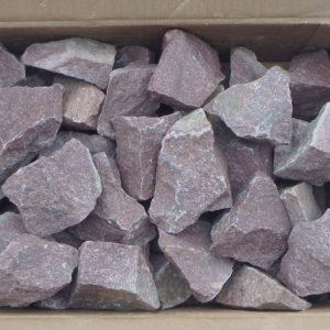 Камень малиновый кварцит коробка 20кг колотый