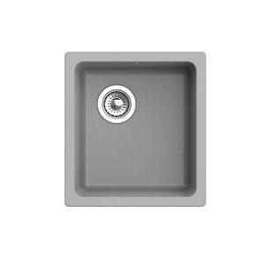 Мойка EWIGSTEIN EW-4540 ПОДСТОЛЬНЫЙ монтаж 1 чаша 490х460мм (серый металлик)