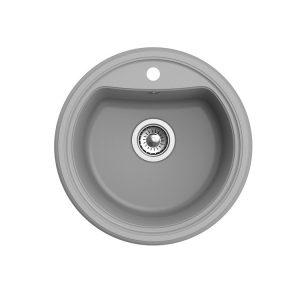Мойка EWIGSTEIN Antik R50 1 чаша d=520 мм (серый металлик)
