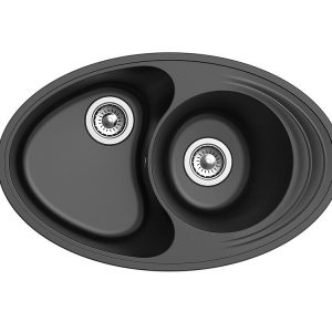 Мойка EWIGSTEIN Elegant W90KF 820*520 1.5 чаши +крыло (черный)