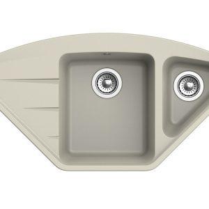 Мойка EWIGSTEIN Wink 80KF угловая (топаз) 960*520 1,5 чаши +крыло
