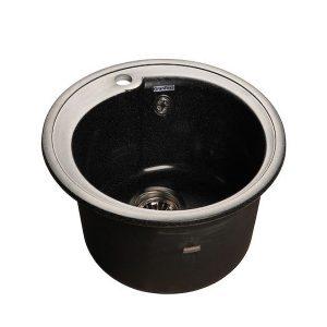 Мойка GRANFEST GF-R450 D =443 мм, круглая (черный - 308)