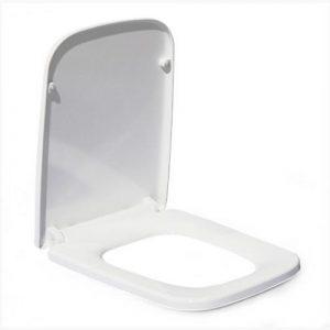 Сидение для унитаза (B2370а) дюропласт с микролифтом Белое MELANA