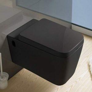 800-В2370В Унитаз подвесной (черный) 570х360х375 MELANA (сиденье микролифт, межосевое 180, без креп)