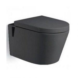 800-В2380B Унитаз подвесной 560х380х340 MELANA Черный (сиденье микролифт, межосевое 180, без крепл)