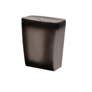 Бачок для унитаза 'Рио' черный г.Киров (меж.ос. 210 мм) БЕЗ АРМ