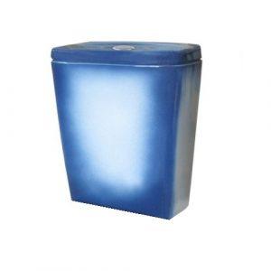 Бачок для унитаза 'Рио' синий г.Киров (меж.ос. 210 мм) БЕЗ АРМ