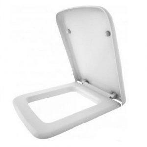 Сиденье для унитаза 'Милан'/ 'Квадро' белое жесткое Мульти-лифт ЖС (Керамин)