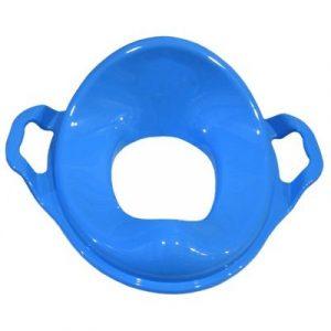 НАСАДКА на унитаз детская С ручками пластик (голубой)