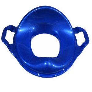 НАСАДКА на унитаз детская С ручками пластик (синий)